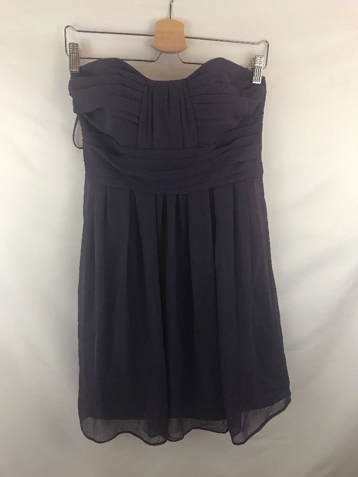Priscilla Of Boston Women Plum Strapless Cocktail Dress Sz 6  | eBay