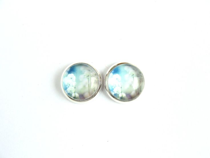Flowers #6 Stud Earrings by CarolinePrecjoza on Etsy