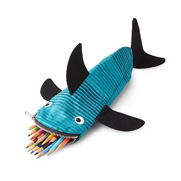 Look what I found at UncommonGoods: Shark Bite Pouch for $44 #uncommongoods