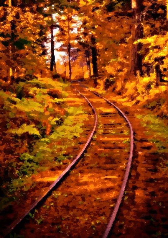 Check out this item in my Etsy shop https://www.etsy.com/ru/listing/494347631/railroad-stylish-neo-impressionism-print