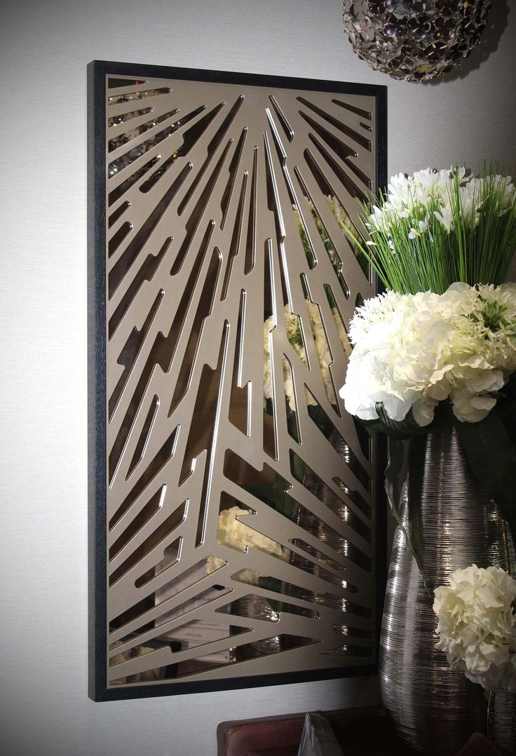 Grill pattern door grill design patterns manufacturer from new delhi - Laser Cut Screen Art With Mirror Back London Splinter Design By Miles And Lincoln Grill