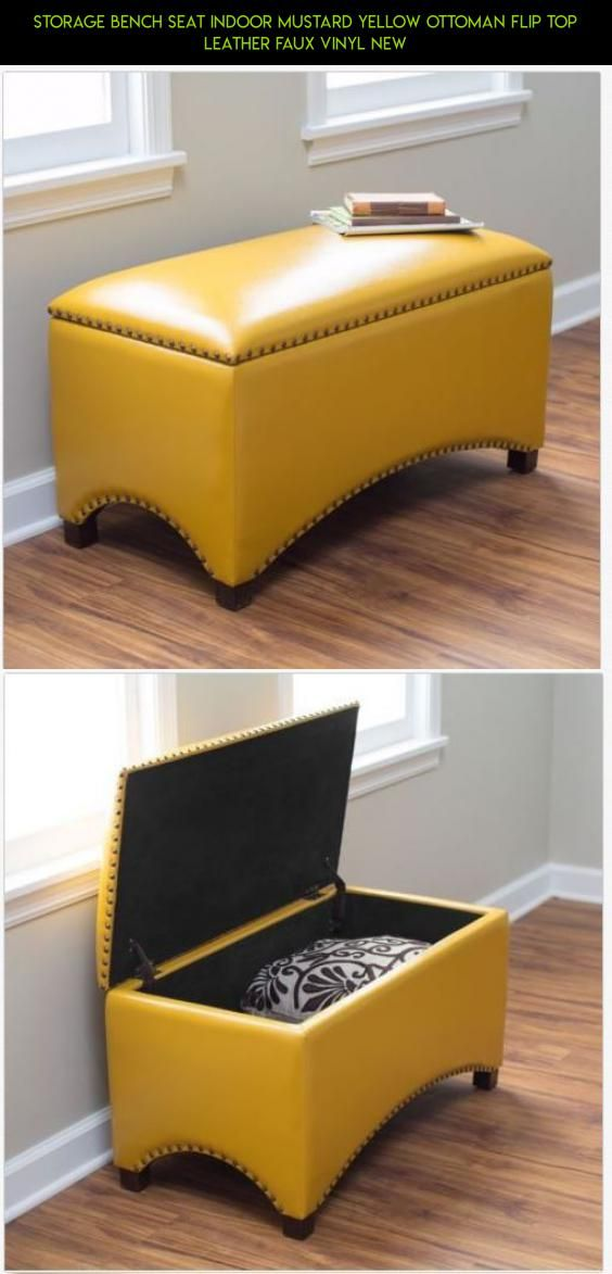 Storage Bench Seat Indoor Mustard Yellow Ottoman Flip Top Leather Faux  Vinyl NEW #storage # - 25+ Best Ideas About Yellow Ottoman On Pinterest Gray And Taupe