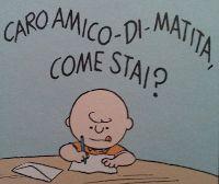 Qui Snoopy e Charlie Brown: Caro amico di matita come stai?