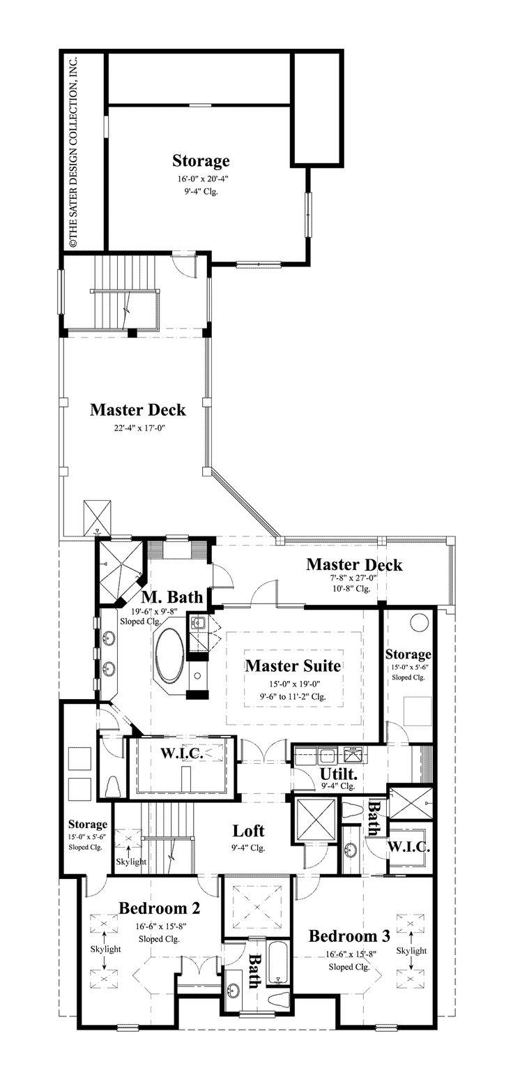 144 best house exterior floor plans images on pinterest for Completely open floor plans