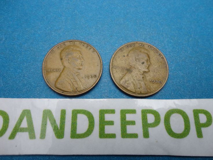 2 1930  Lincoln One Cent 1C Wheat Penny Pennies Coin Money find me at www.dandeepop.com