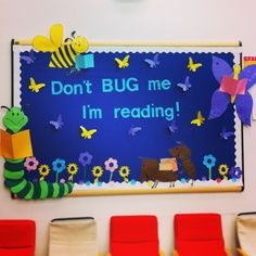 Don't Bug Me - I'm Reading! Library bulletin board