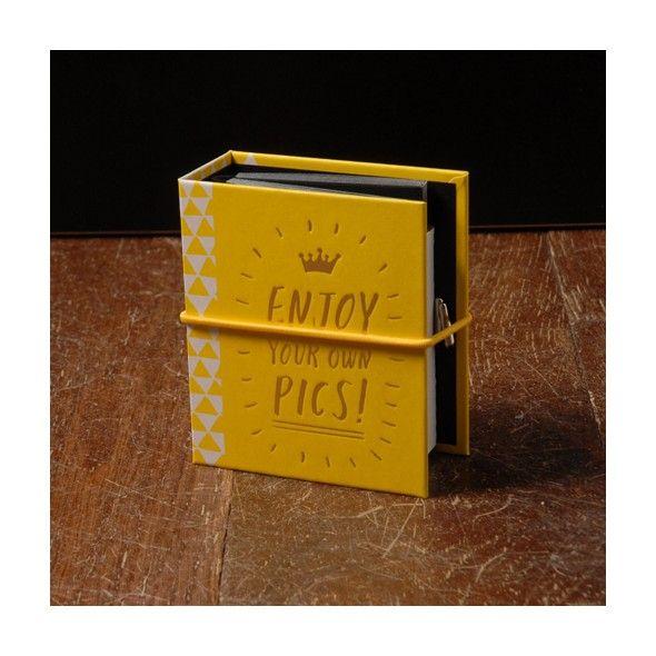 Album photo pour Instax Mini jaune