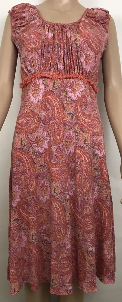 April Cornell Women's Dress Size S  Rayon Floral Rayon Sleeveless multi colored  #AprilCornell #Romantic #Casual #womensfashion #style #selling #forsale #womensdress #AprilCornelldress #ebay #ebaystore #topratedseller