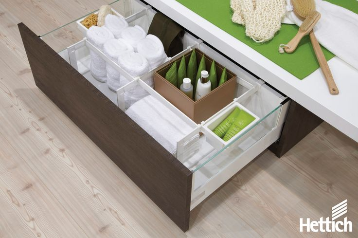 Create customised bathroom storage with Hettich. Click on the pin for more information. #bathroomstorage #storagesolutions