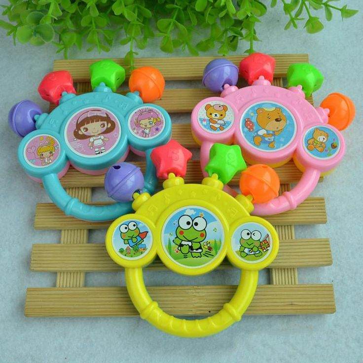 Baby cute Rattle Toy kid Pram Crib handle activity rattle baby gift free shipping WYQ