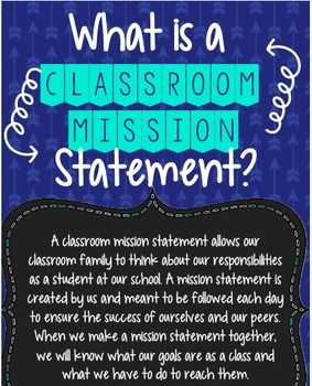 EDITABLE: Creating a Classroom Mission Statement                                                                                                                                                     More                                                                                                                                                                                 More