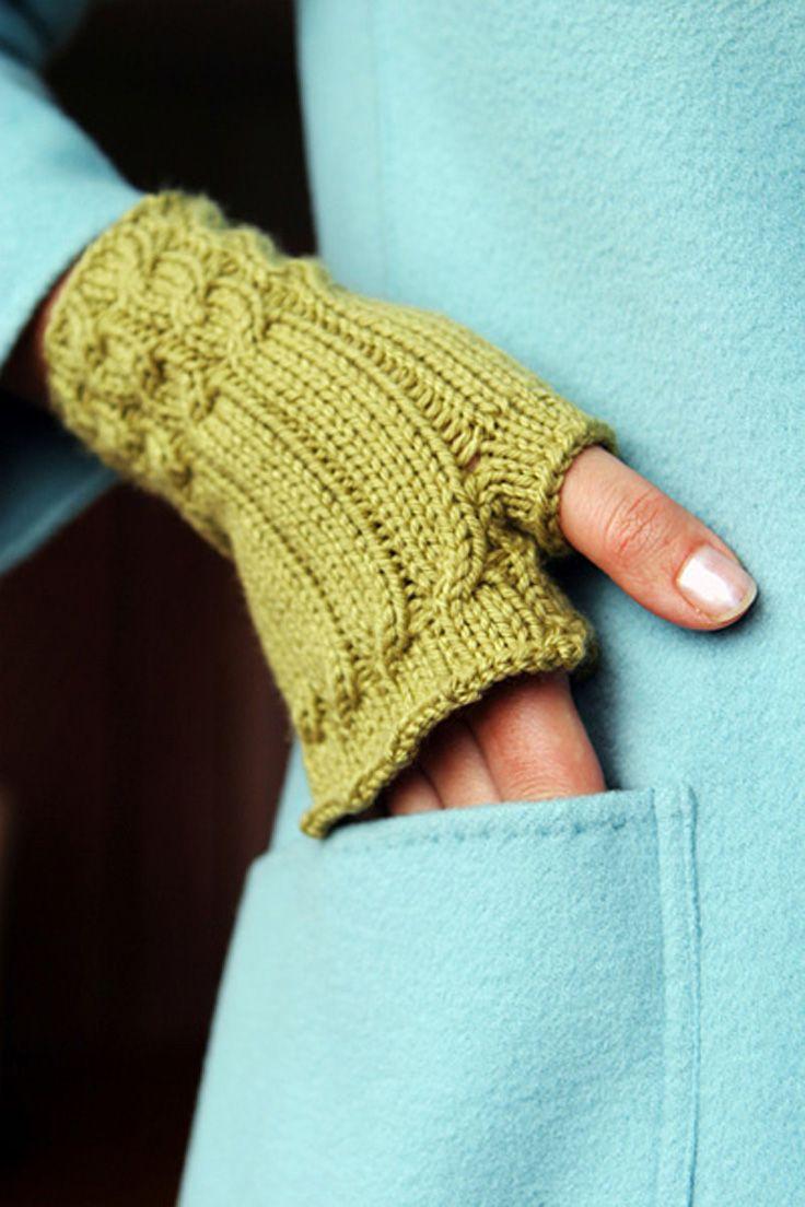 fingerless gloves knitting pattern | Knitting Pattern and Photo credit to knitty.com