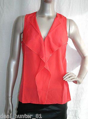 #Rainbow ladies raspberry #red/orange top #blouse s/36/8 elegant frills 117-18/10,  View more on the LINK: http://www.zeppy.io/product/gb/2/172028738279/