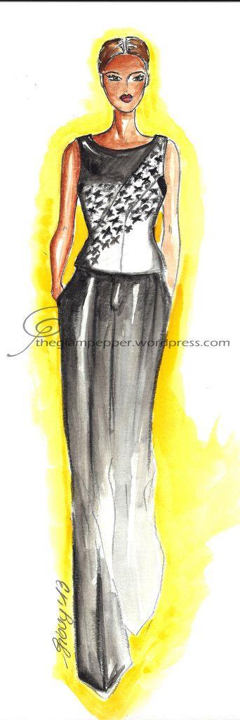 Fashion illustration by The Glam Pepper Christian Dior, A/W 2013/14 #fashion #illustration #sketches