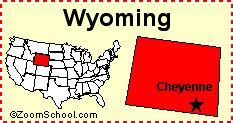 Wyoming: Facts, Map and State Symbols - EnchantedLearning.com