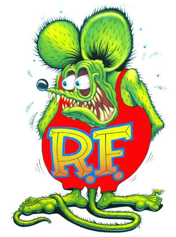 10pcs Big Daddy Ed Roth Graffiti Eyeball Laptop Rat Fink Stickers Vinyl Decal