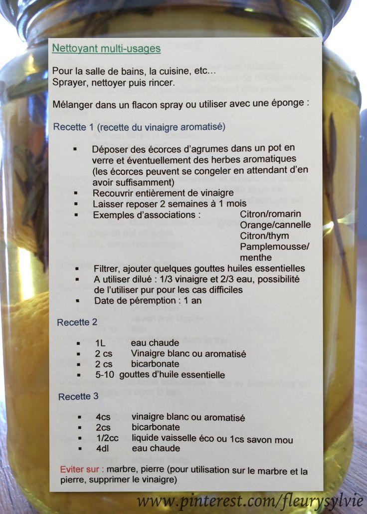3 recettes de nettoyant multi-usages. J'ai testé...ça marche!