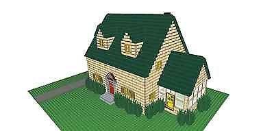 custom lego house instructions