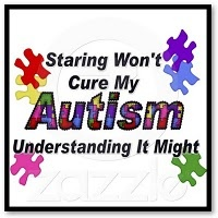 Staring wont cure my autism understanding it might.