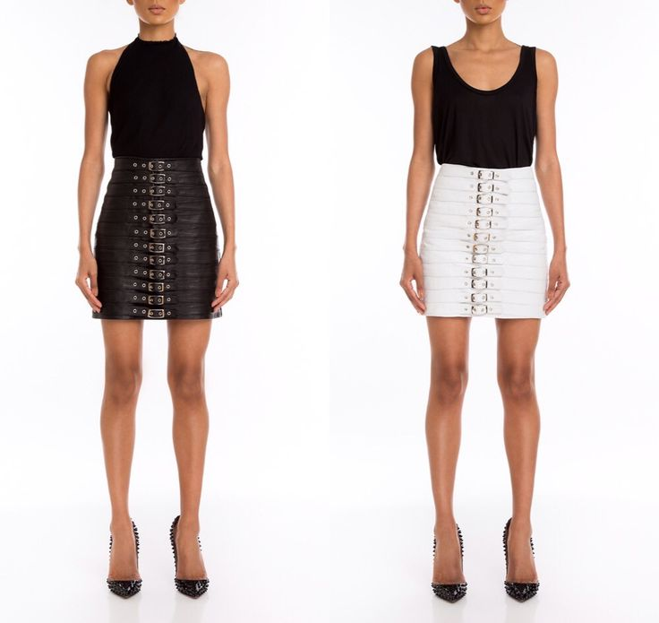 Which one u prefer ? Black or white ? Our leather skirts are always in style and perfect for you ! Available online now on www.manokhi.com