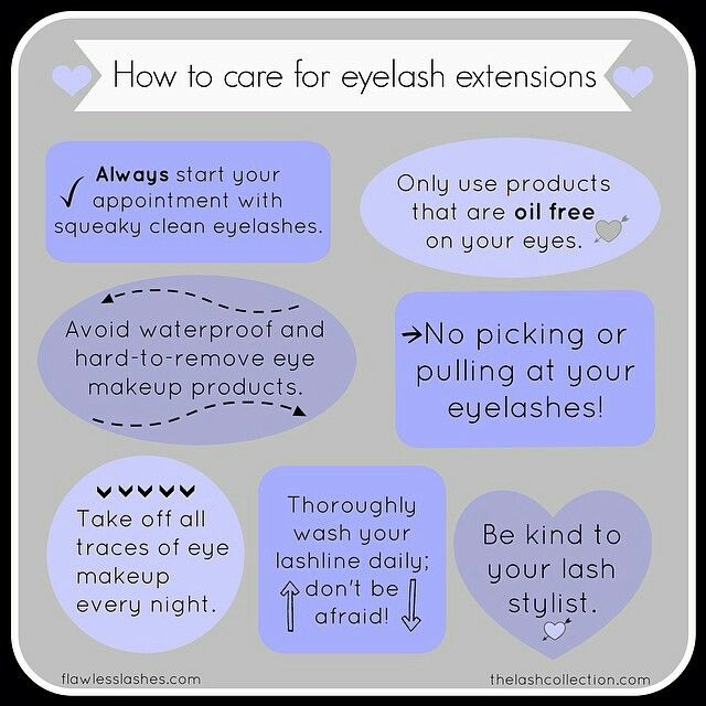 How to Care for Your lash extensions