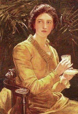 John Hanson Walker (British artist, 1844-1933) Five O'Clock Tea