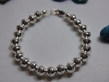 "STERLING Silver 6"" NAVAJO PEARLS Necklace EXTENDER for SQUASH BLOSSOM"
