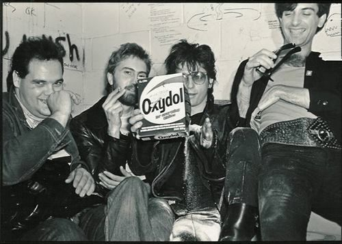Johnny Thunders with Luigi & Tony at the Gary Taylor's Back Room in Vancouver 1981