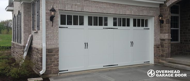 CHI Overlay Carriage house door 5300 Series, Installed in St. Charles, Illinois