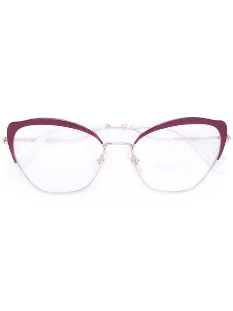 Compre Miu Miu Eyewear Armação de óculos gatinho   Óculos Grau in ... 547951aa4f
