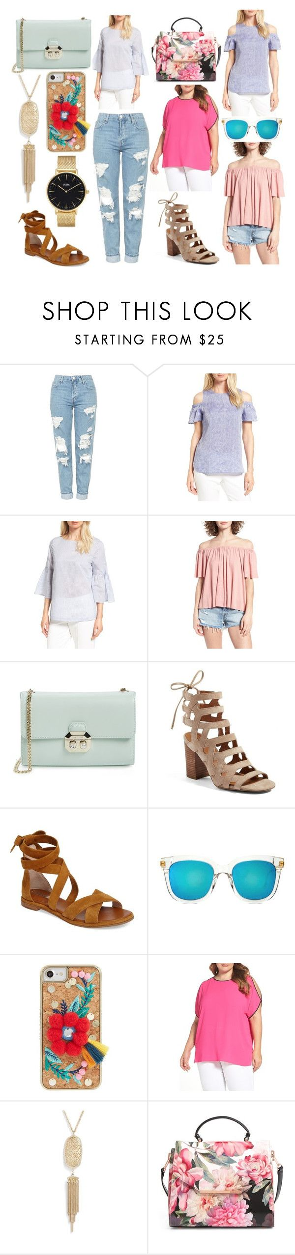 """""""NORDSTROM HALF YEARLY SALE"""" by fashionbeautydecor ❤ liked on Polyvore featuring Topshop, Nordstrom Collection, BP., Ted Baker, Franco Sarto, Louise et Cie, Gentle Monster, Skinnydip, Vince Camuto and Kendra Scott"""