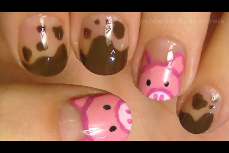 Pig nails with mud this is the one I want!!