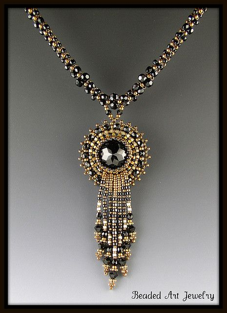 Beaded Crystal Necklace by Beaded Art Jewelry, via Flickr