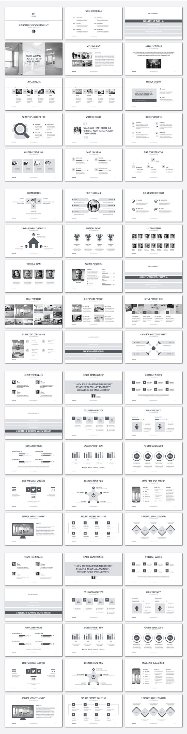 Best Presentation Design Inspiration Images On Pinterest Page - Awesome replace powerpoint template concept