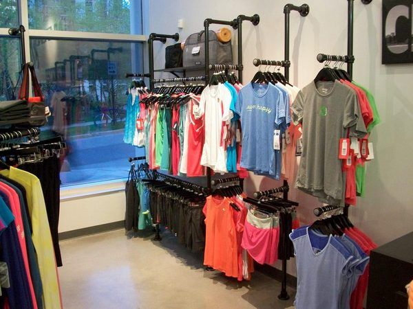 Wall Mounted Clothing Racks (My husband R made these for his friends new store! They came out so awesome!)
