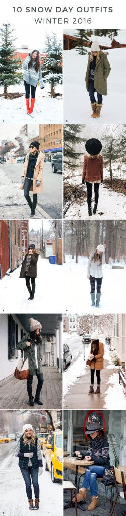 snowday outfits, snow day outfits, winter outfits, winter outfit ideas, snow day outfit ideas, outfits for snow, cold weather outfits, winter style, winter fashion trends, heavy coats, oversized sweaters, hunter boots, layered outfits, cute hats, winter hats, beanies via Advicefroma20Something.com