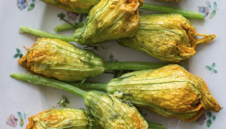 Deep fried zucchini/squash blossoms