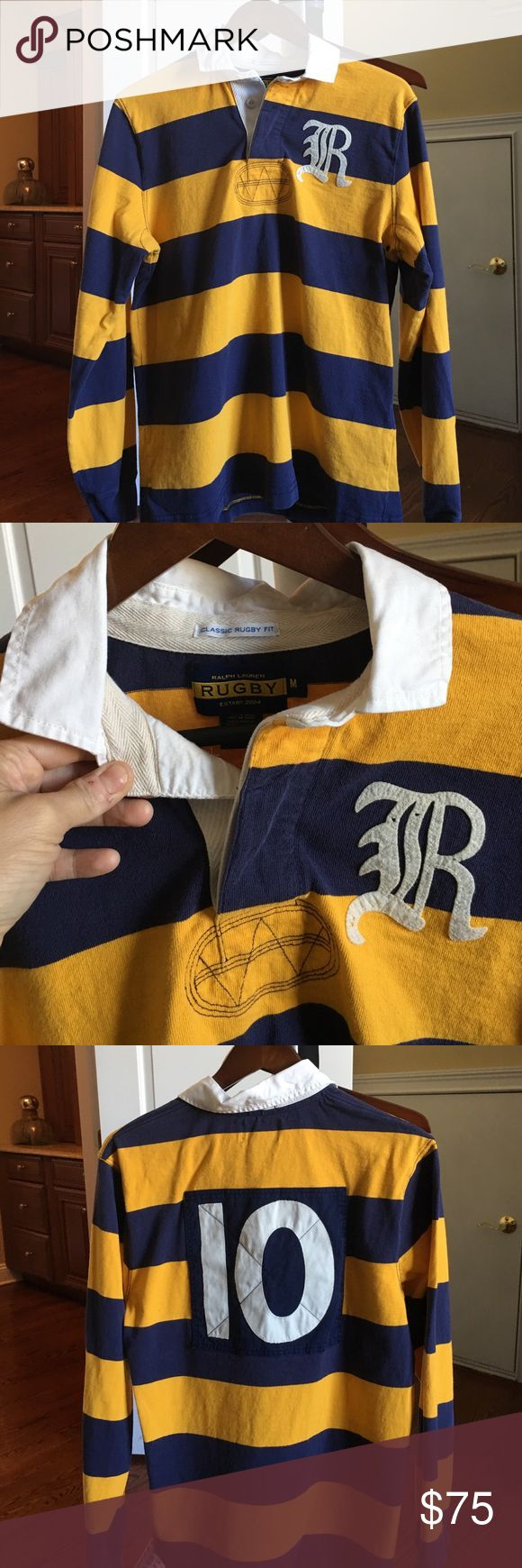 Men's long sleeve Rugby by Ralph Lauren polo Men's long sleeve polo shirt by rugby by Ralph Lauren. This shirt was only worn once . Is in excellent condition! Ralph Lauren Shirts Polos