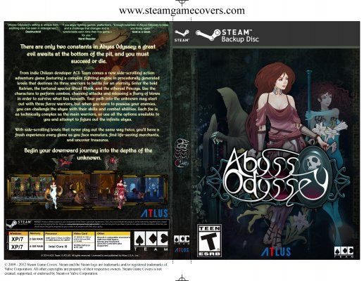 Awesome full new cover art is up for #AbyssOdyssey from Steam Game Covers. Get it here: http://www.steamgamecovers.com/covers/abyss-odyssey    #gamecovers #gameart #Steam #PCGaming #ACETeam #AbyssOdyssey #VideoGames #Gaming #IndieDev #IndieGame #IndieGames #PCGame #PCGames #AtlusUSA #AtlusGames #Atlus #PS4 #PS3 #PlayStation3 #PlayStation4 #Xbox360 #FanArt #GamesArt #VideoGamesArt #Drawing #Drawings #Illustration #Illustrations #SteamGameCovers