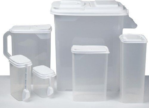 Buddeez 06401W 12 Piece Transparent Plastic Food Storage Set By Buddeez.  $42.99. All