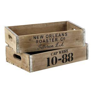 2 cajas de madera 30 × 47cm CAP WEST