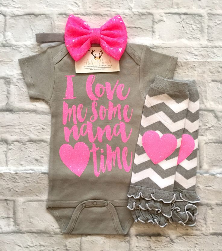 A personal favorite from my Etsy shop https://www.etsy.com/listing/505682360/baby-girl-clothes-nana-shirts-i-love-me