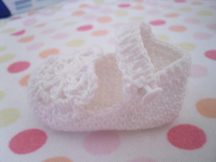 Sapato de bebe de grande qualidade feito em linha de algodão 7,50E
