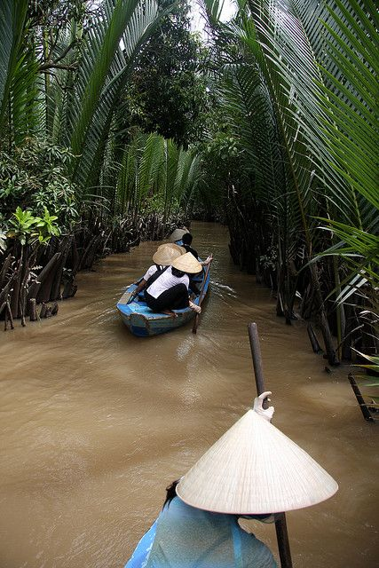 Whilst visiting Ho Chi Minh City join a tour and board a boat for the highlight of our day – a trip on the Mekong River. The Mekong River originates in Tibet and flows through six countries: China, Burma, Thailand, Laos, Cambodia and Vietnam. When reaching Vietnam, the river divides itself into nine tributaries, like nine dragons spitting out water, forming a huge fertile delta. .