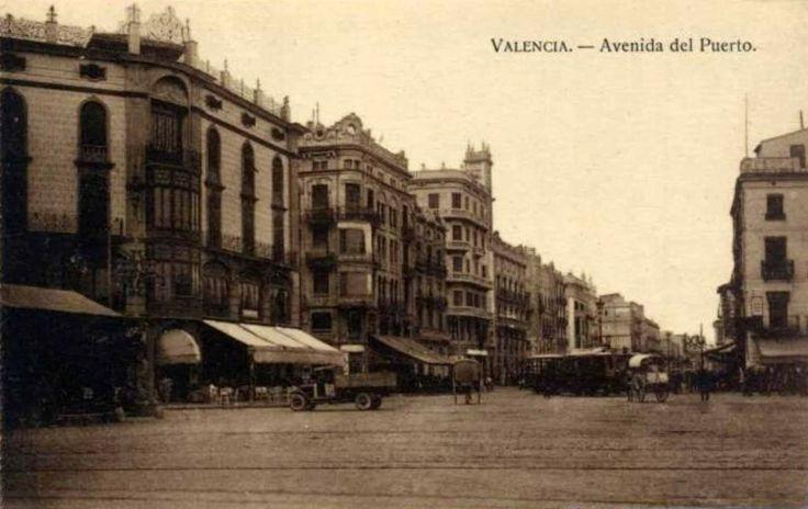 POSTALES DE VALENCIA: AVENIDA DEL PUERTO