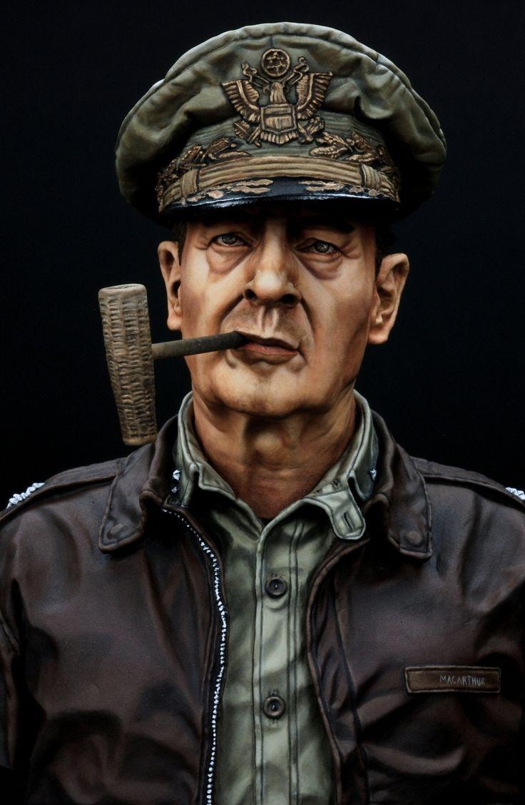 Gen. Douglas MacArthur, U.N. supreme commander (Life Miniatures 1/10 Bust)