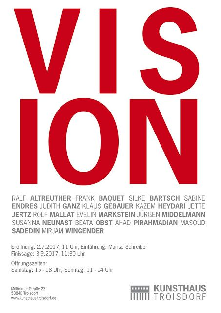 Mirjam Wingender: VISION - UPCOMING EXHIBITION