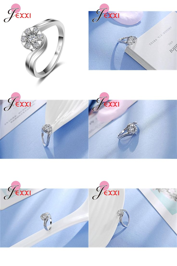 [Visit to Buy] PATICO Vintage Crystal Exquisite Women Jewelry Round Cut White Snow Band 925 Sterling Silver Ring Large Size Wholesale Wedding #Advertisement