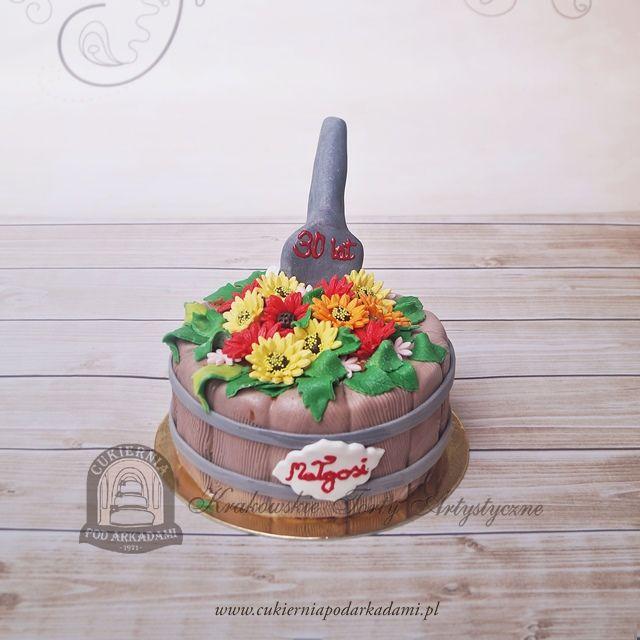 79BA. Tort rabatka kwiatowa. Flowerbed shaped cake.