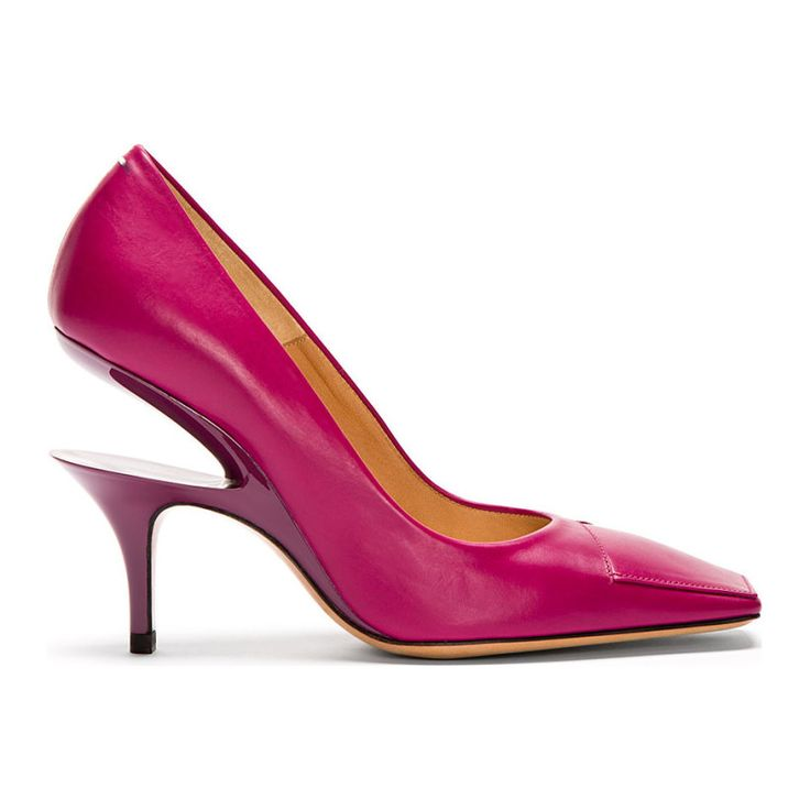 Maison Margiela - Fuchsia Cut-Out Heel Pumps